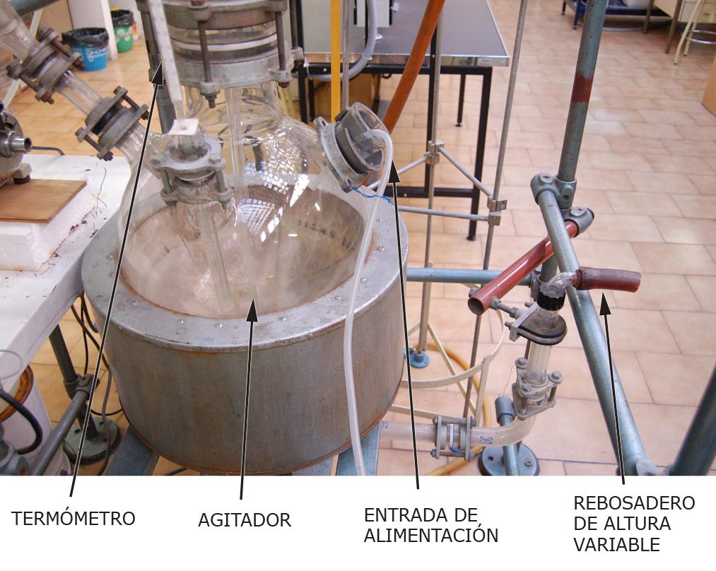 Reactor continuo tanque agitado