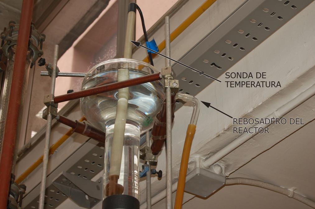Detalle reactor tubular