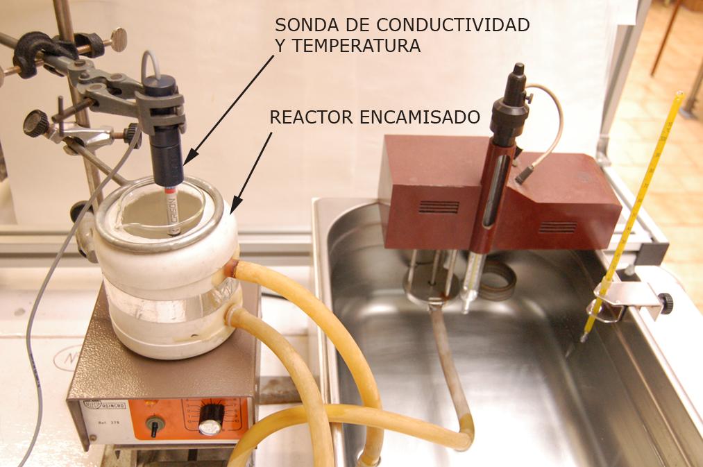 Detalle instalación experimental Práctica 1